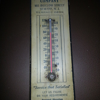 """HERR"" METAL CEILING COMPANY THERMOMETER - Advertising"