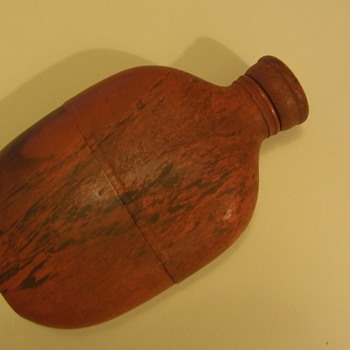 1865 Civil War era Goodyear Flask...Gutta-Percha