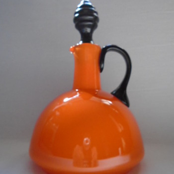 Tango Glass Jug/Decanter ...... probably Harrach - Art Glass