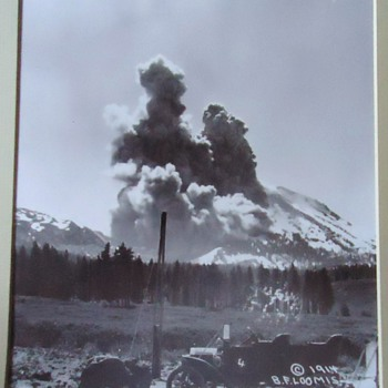 KA-BOOM!!  1914 Mt. Lassen Ca.  photo 1914!  from thrift store!