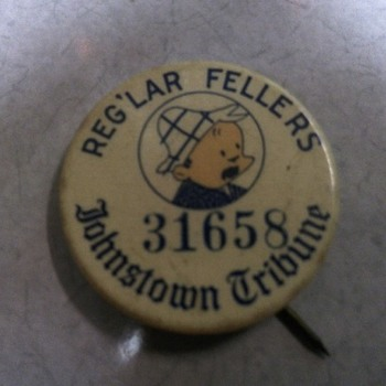 reg'lar fellers pinback - Medals Pins and Badges