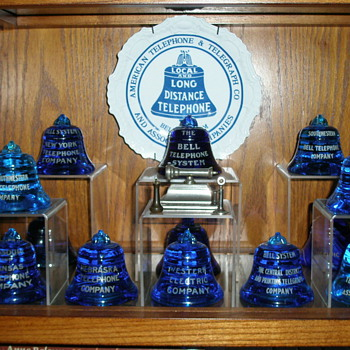 The Bell System Blue Bell Paperweights