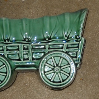 Wagon planter - Art Pottery