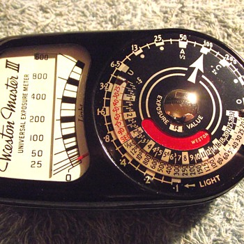 1957-weston master 3 exposure meter. - Cameras