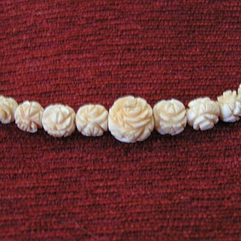 Handcarved Ivory Necklace Set