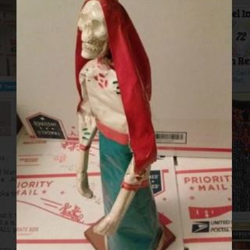 """I Live about 1 Hr. from Mexico--Found in Nogales""""Dia De Muertos"""" Statue. - Folk Art"""