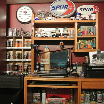 What a Collector's Basement Office May Look Like :)