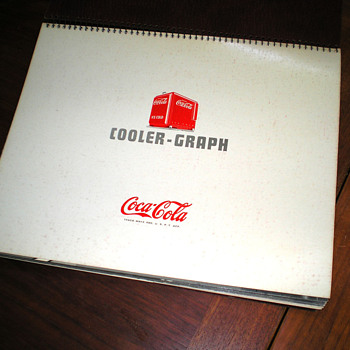 1940 Coca-Cola Cooler-Graph Binder Book - Coca-Cola