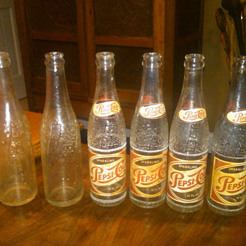 old Pepsi bottles