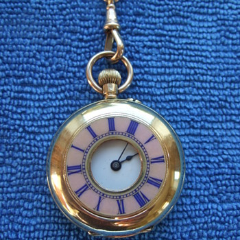 18k solid gold ladies fob watch - Pocket Watches
