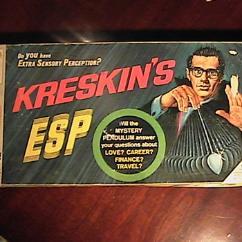 Kreskin's ESP by Milton Bradley 1967 - Games