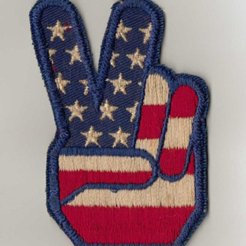 1970's Peace Symbol Patch - Sewing
