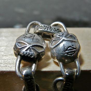 Silver Harley Davidson Skulls Bracelet