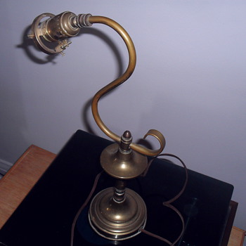 Old brass lamp.