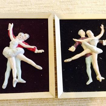 Framed china ballet figures - Visual Art