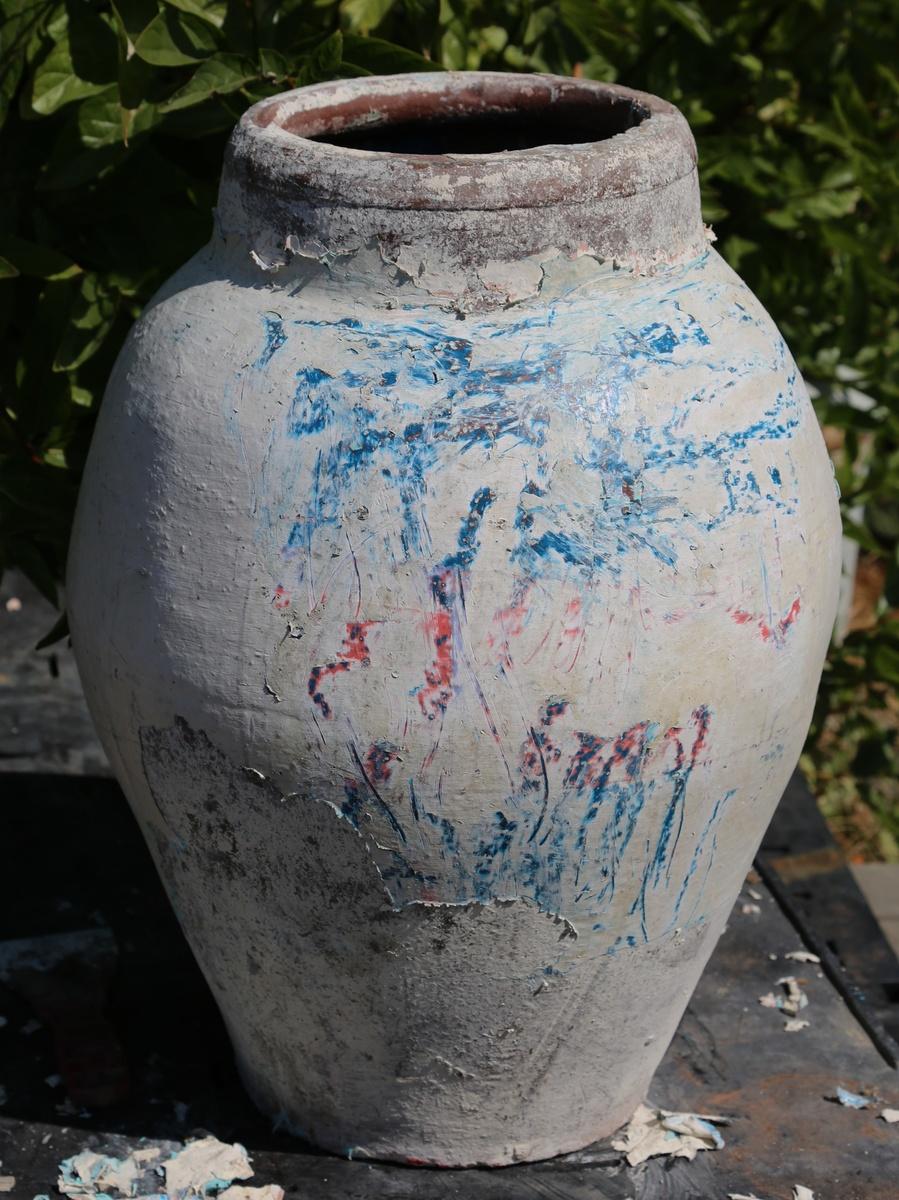 Large Terracotta Garden Urn Collectors Weekly