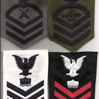Navy rating Badges and Hash Marks/Service Stripes - Military and Wartime