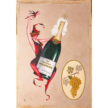Study for Champagne Bollinger Advertisement, c.1920s (my date attribution) - Posters and Prints
