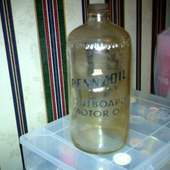 quart pennzoil jars - Bottles