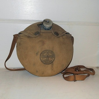 Vintage Boy Scout Canteen Circa 1950s - Sporting Goods