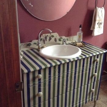 1940s-1950s Dresser - 2003 ReImage into Vanity.