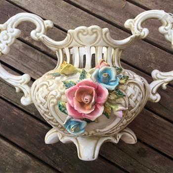 A vase by Capodimonte