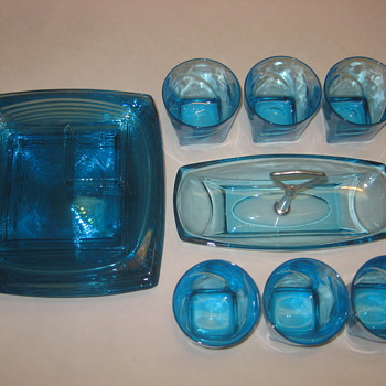 Blue Glass set - Glassware