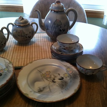 Beautiful porcelain tea set.