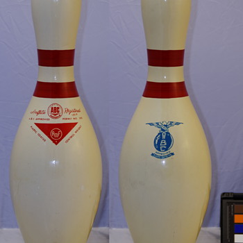 "AMF Amflite Registered ""Mini-Meatball"" Bowling Pin"