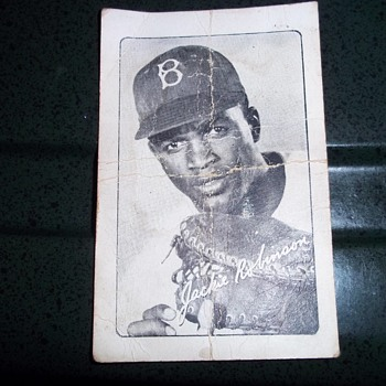 Bond Bread Jackie Robinson Card - Baseball