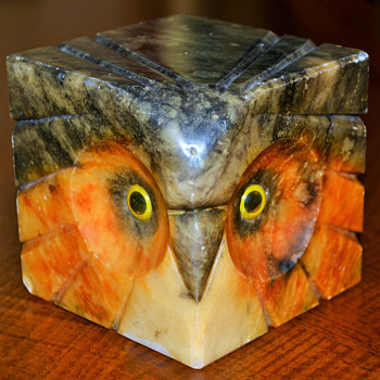 AlabasterOwl figurine - Animals