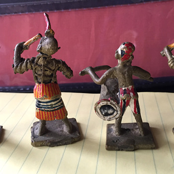 Hand Painted Brass Figurines