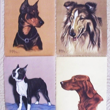 Dog Lithos Gladys Emerson Cook   1947 - Animals