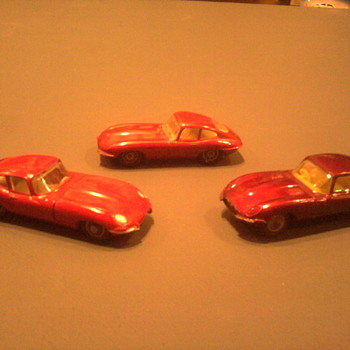 Three Jauguars, three separate toy makers.  Matchbox, Husky and Meccano. - Model Cars