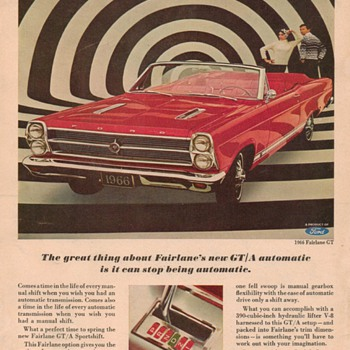 1966 Ford Fairlane Advertisement - Advertising