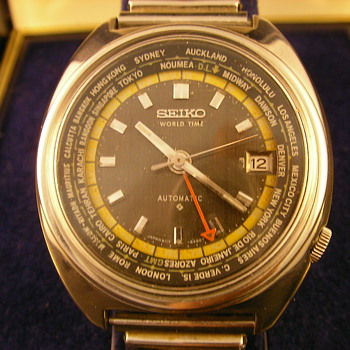 1973 Seiko 6117 World Time Automatic - Wristwatches