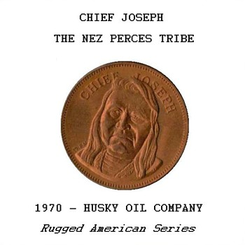 "Husky Oil Co. - ""Chief Joseph"" Token"