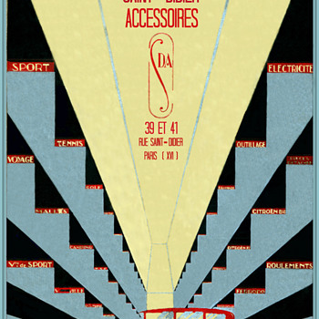 Saint - Didiers Auto Accessories Catalog Circa 1925 - Art Deco