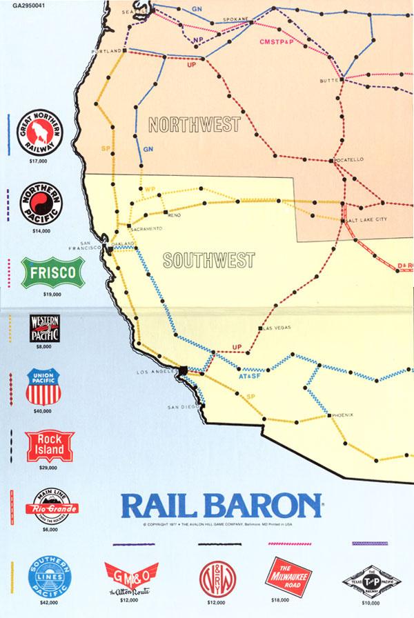 Rail Baron Vintage Board Game : Collectors Weekly