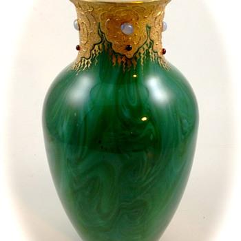 Loetz Marmoriertes (Malachit), ca. 1890 - Art Glass