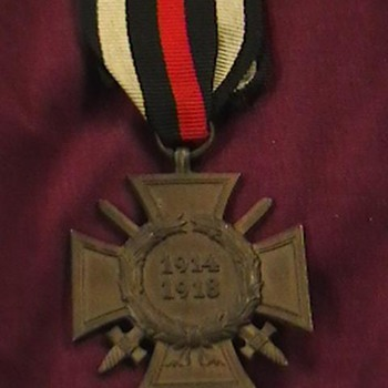 WW I Hindenburg Cross