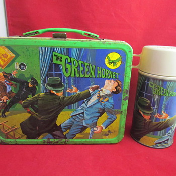 1967 &quot;The Green Hornet&quot; Lunch Box &amp; Thermos by KST - Kitchen