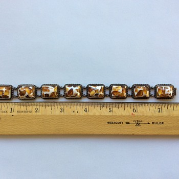 Unusual vintage Amber bracelet