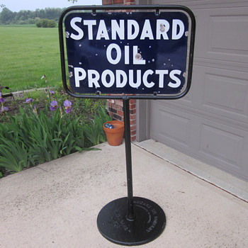 Standard Oil Porcelain Sign Pedestal Base