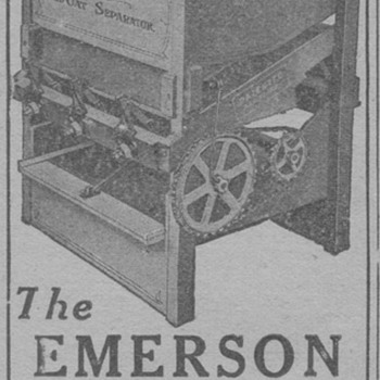 1919 Emerson Wild Oat Seperator - Advertising