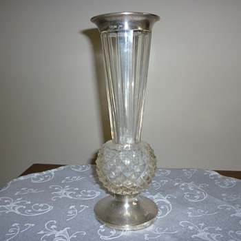 Glass vase - Sterling Silver