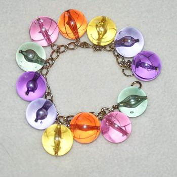 Longing for Spring:  Vintage Lucite Bracelet