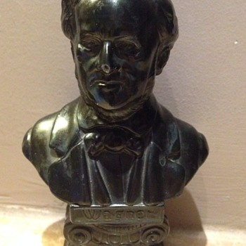 Wagner bronze bust signed by L Piedboeuf - Music