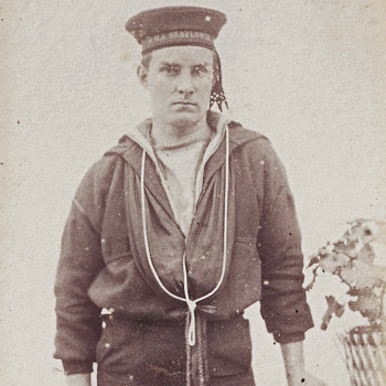 1870's Royal Navy Cadet CDV by Samuel Cooper