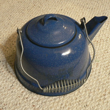 ENAMEL WARE-- PORCELAIN  TEA KETTLE